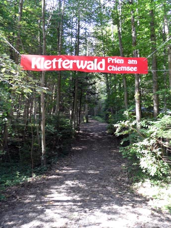 Kletterwald Prien am Chiemsee - Eingang zum Waldseilgarten