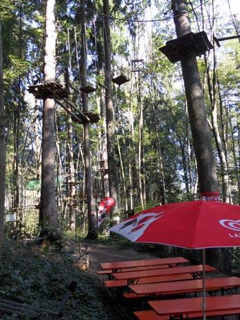 Kletterwald Prien am Chiemsee - Der Hochseilgarten im Wald