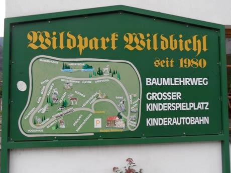 Wildpark Bildbichl - Eingang zum Wildpark
